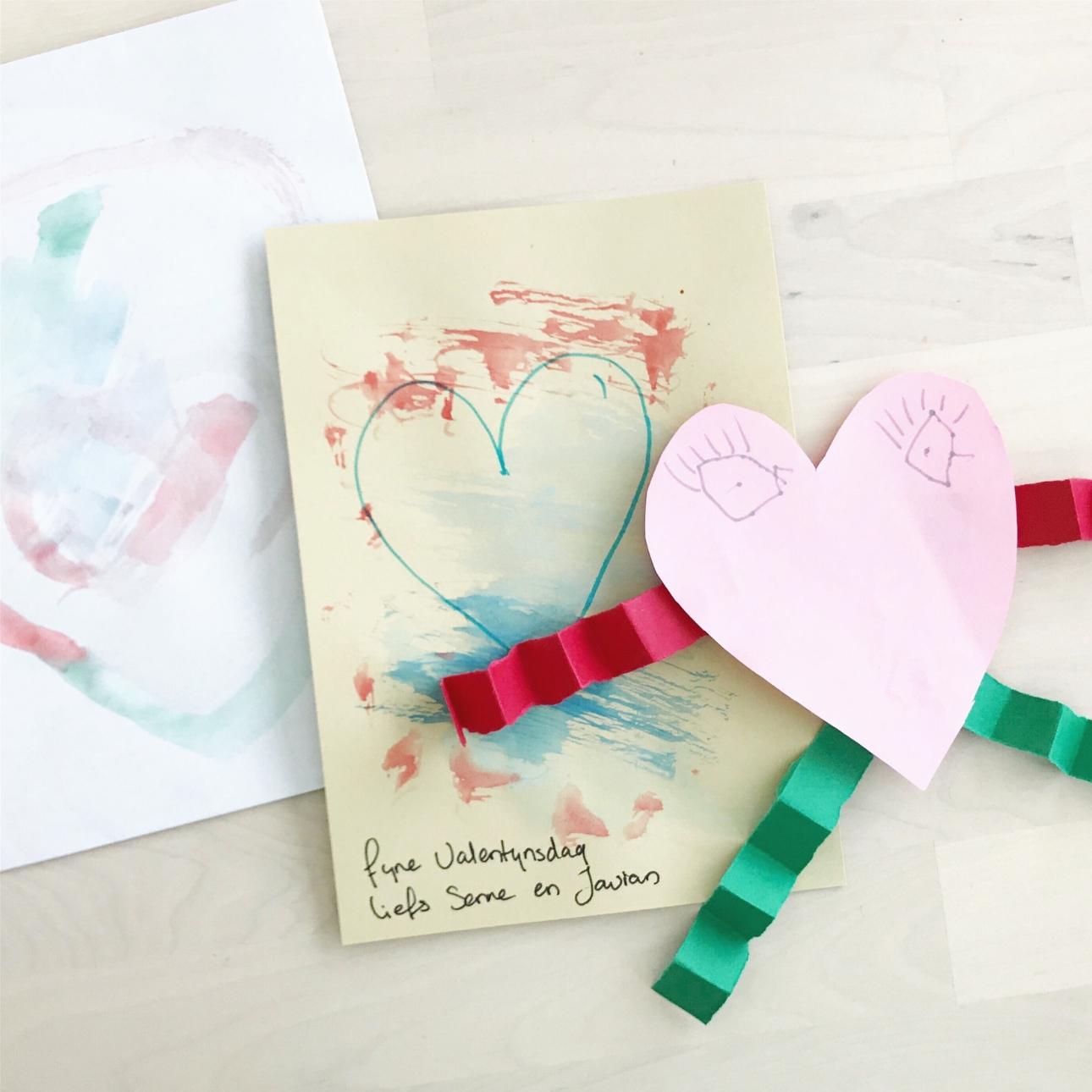 valentijnskaart maken kinderen hartjes
