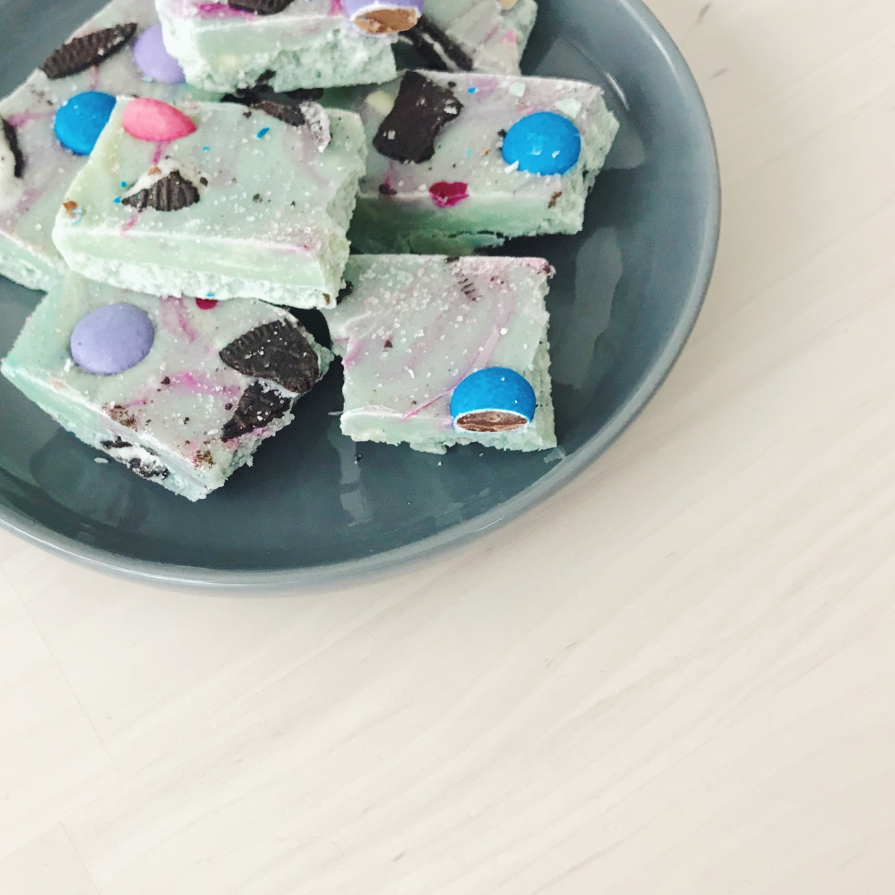 mermaid zeemeerminnen rocky road met oreo m&m's