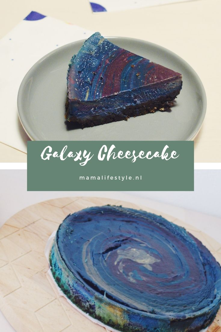 Pinterest - space party galaxy cheesecake