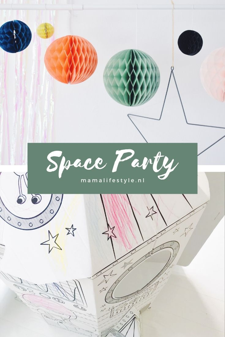 Pinterest - space party kinderfeestje