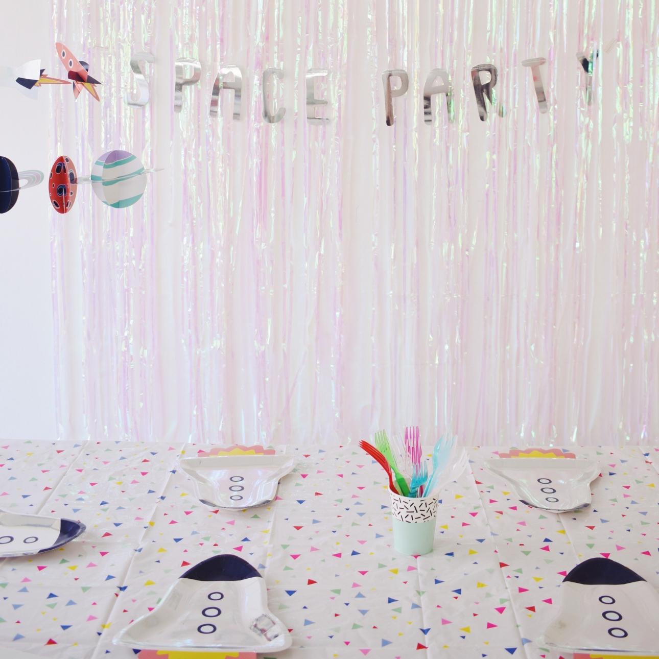 space party kinderfeestje avondeten