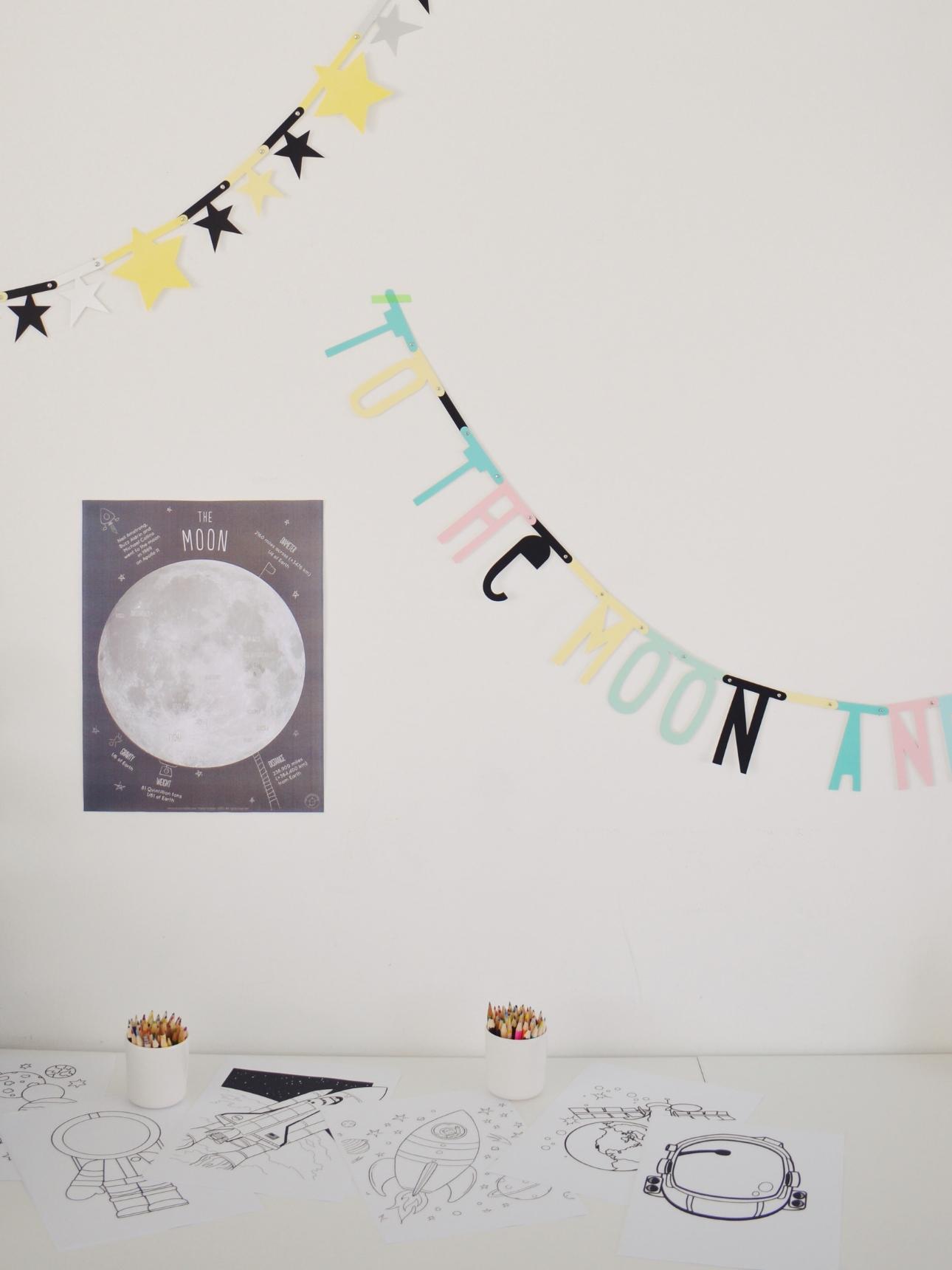 space party kinderfeestje kleuren