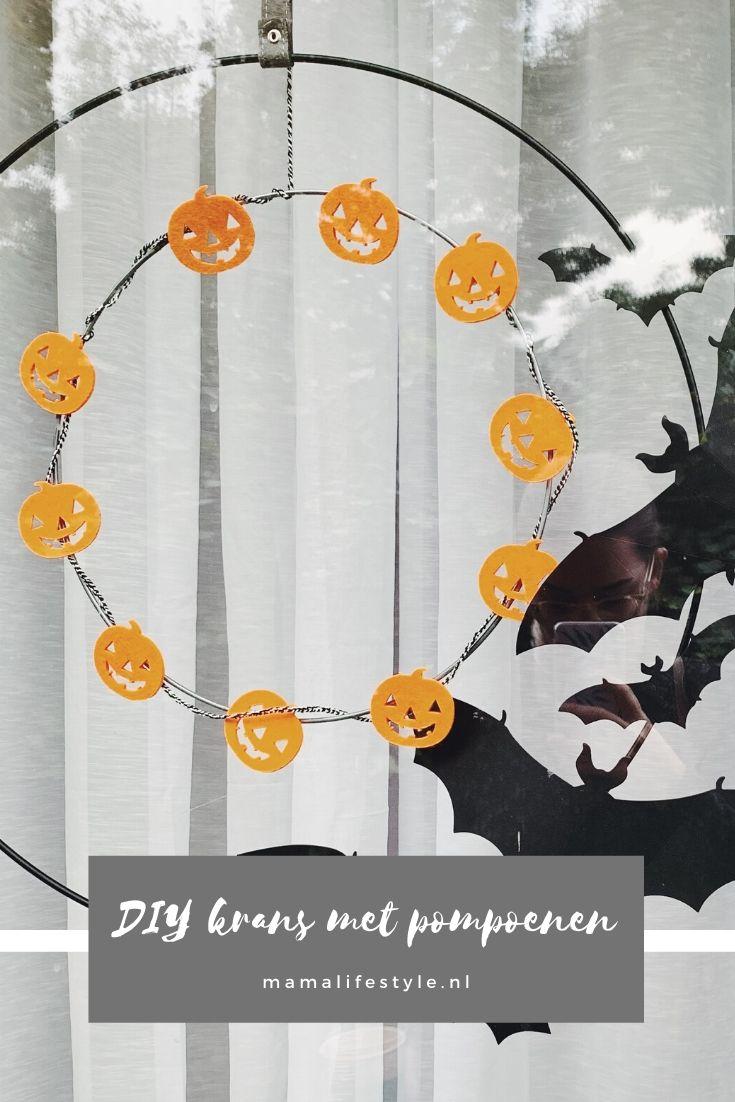 Pinterest - halloween krans pompoenen voordeur