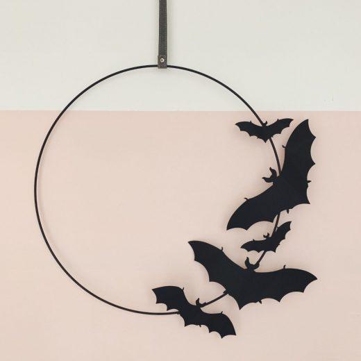 halloween krans vleermuizen (1)