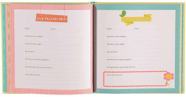 Hema babyboeken - kraambezoekboek