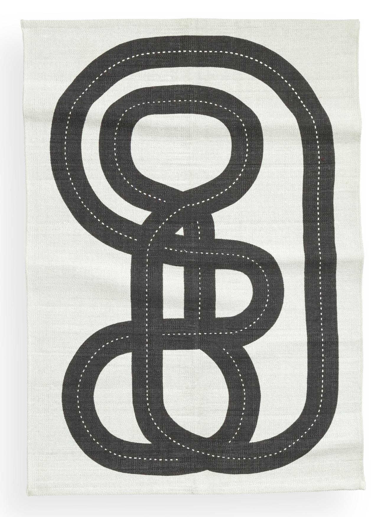 kinderkamer ideeen zwart-wit vloerkleed van H&M Home
