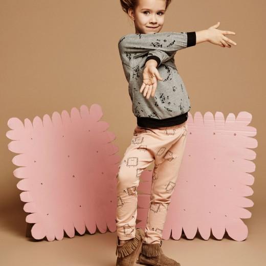 Kukukid AW15 meisje grijze trui roze broek
