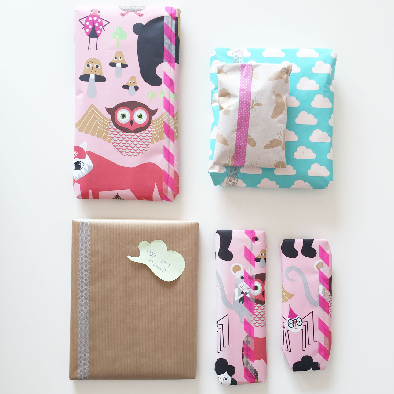 Mamalifestyle Marike augustus 2015 cadeautjes inpakken