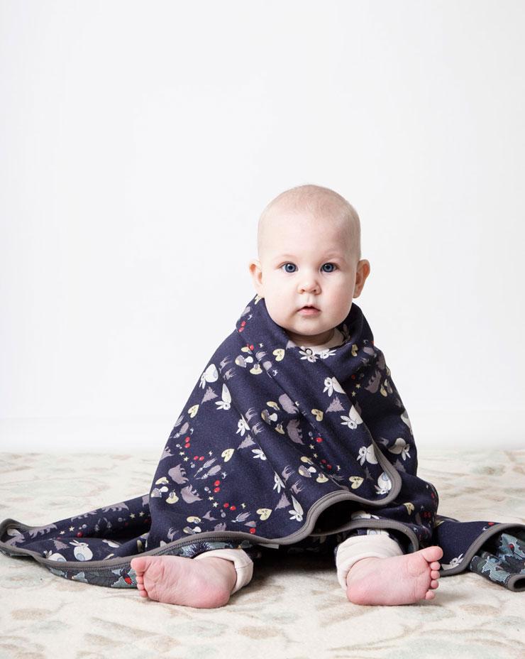 Modeerska Huset aw15 Deep Forest Baby blanket