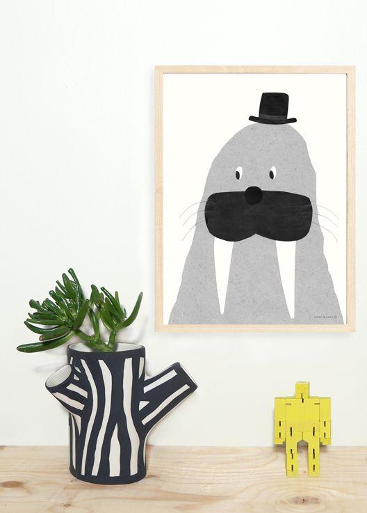 Walnuts and Walrus posters kinderkamer