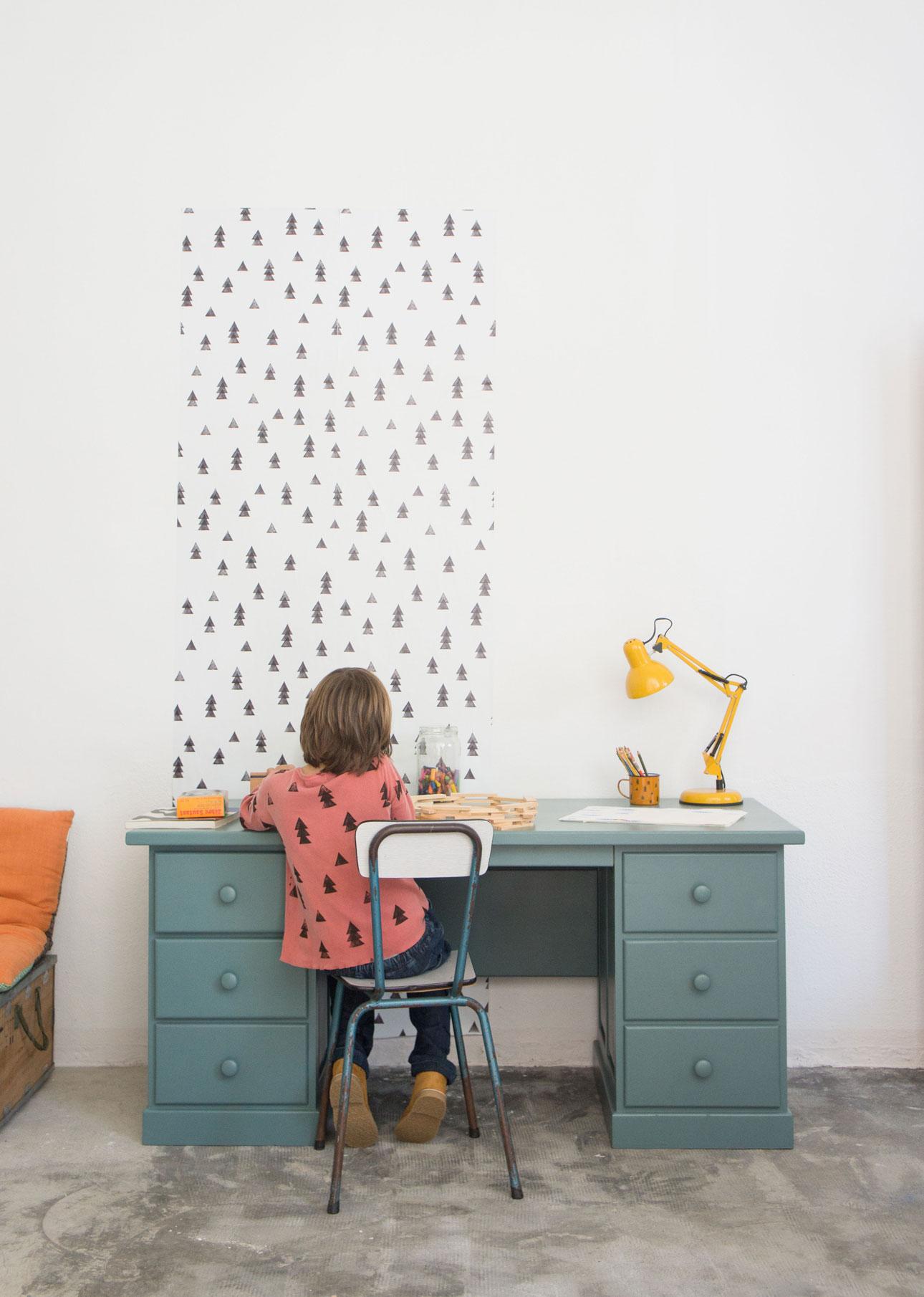 Bobo Choses AW15 behang wallpaper woods