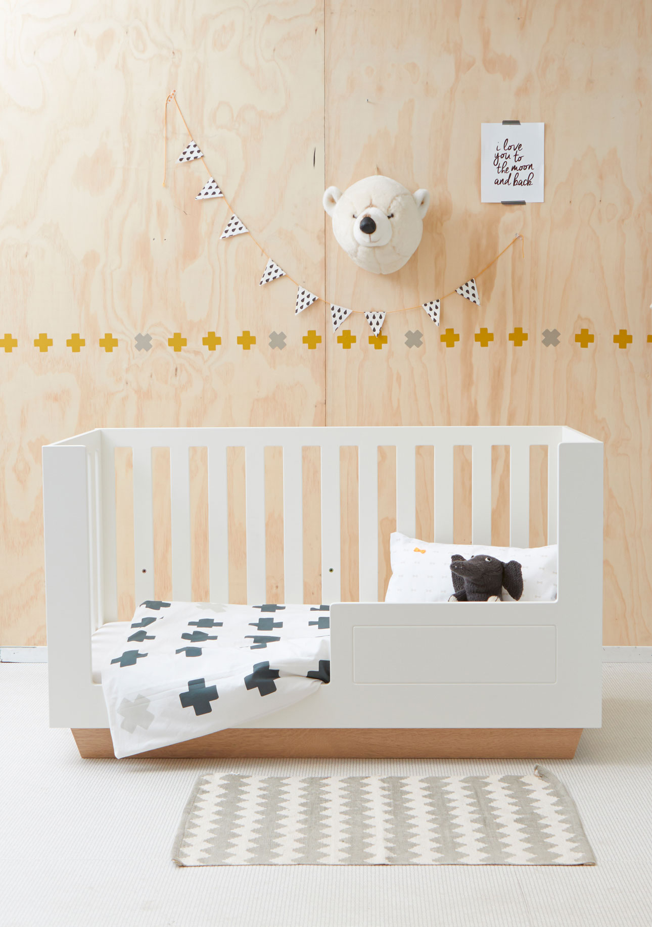 Bibelotte cross wooncollectie plywood bed