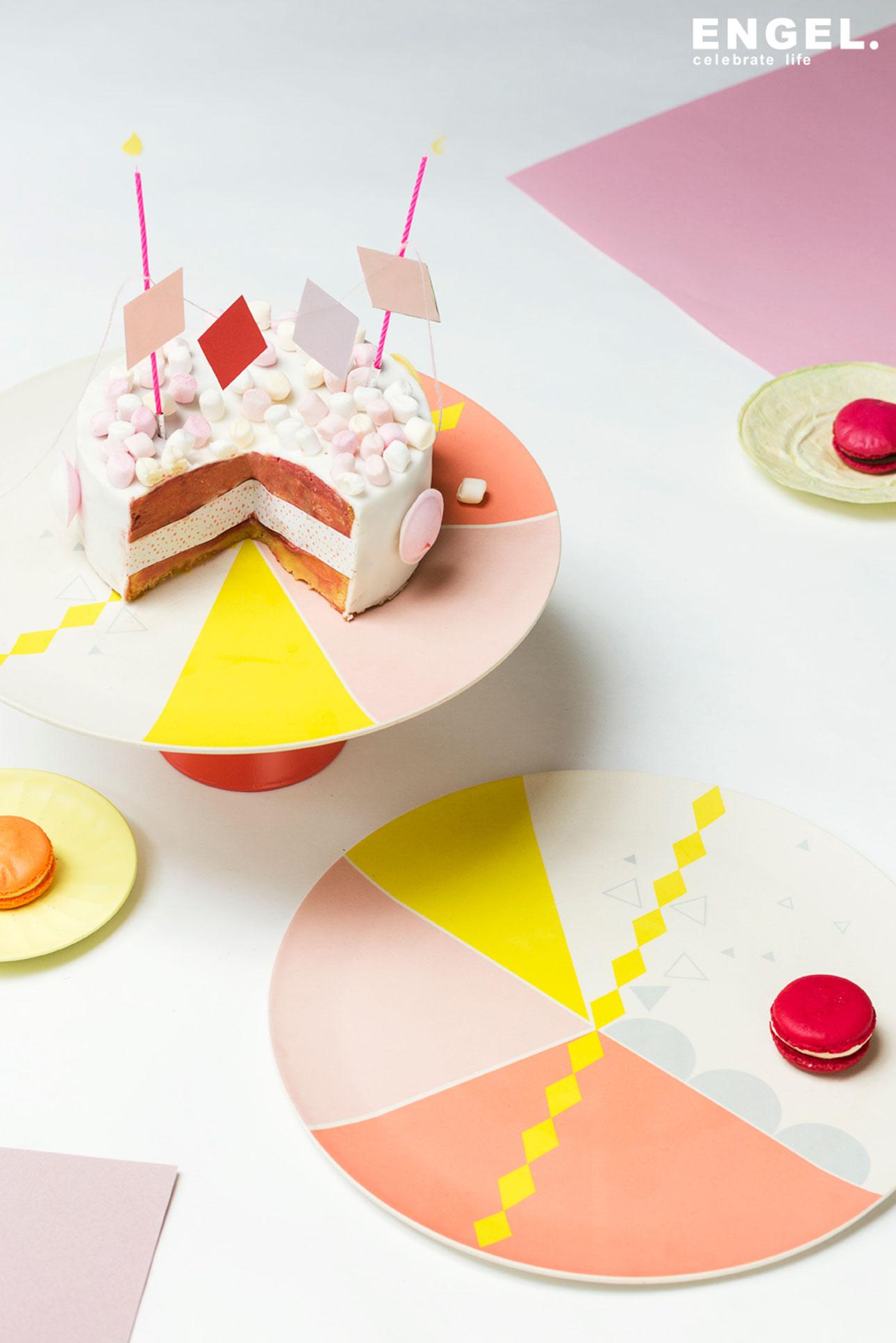 engelpunt bamboe servies cake plate engelpunt
