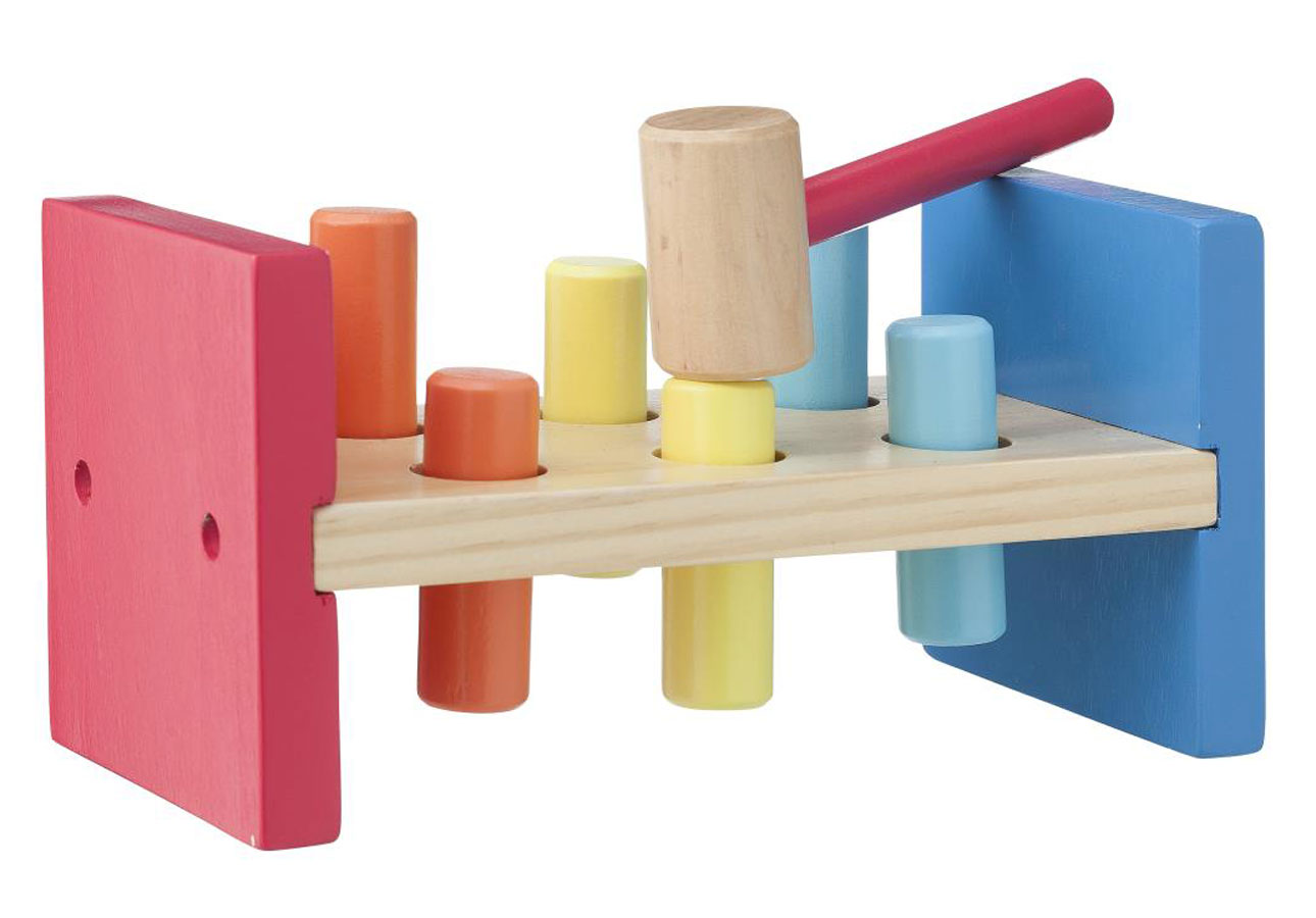 hema houten speelgoed hamertje tik