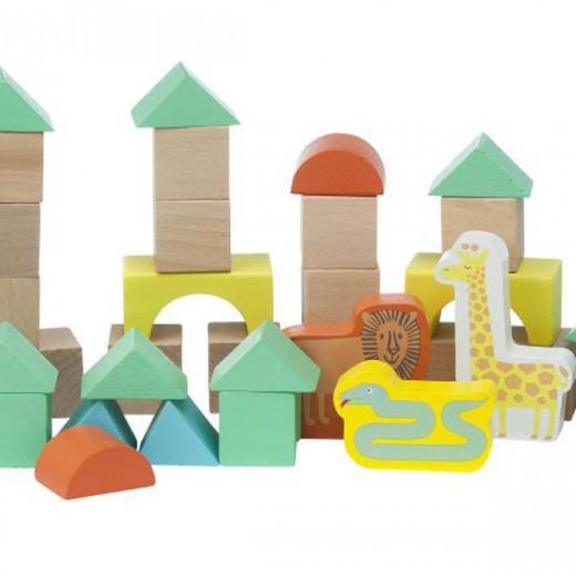 hema houten speelgoed houten blokken dieren