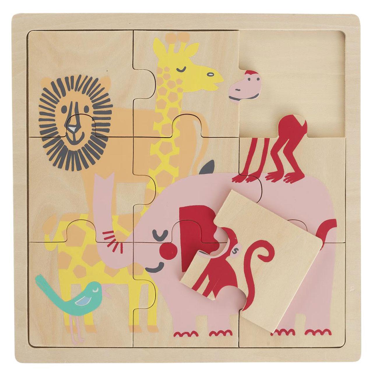 hema houten speelgoed puzzel puzzel dierentuin dieren