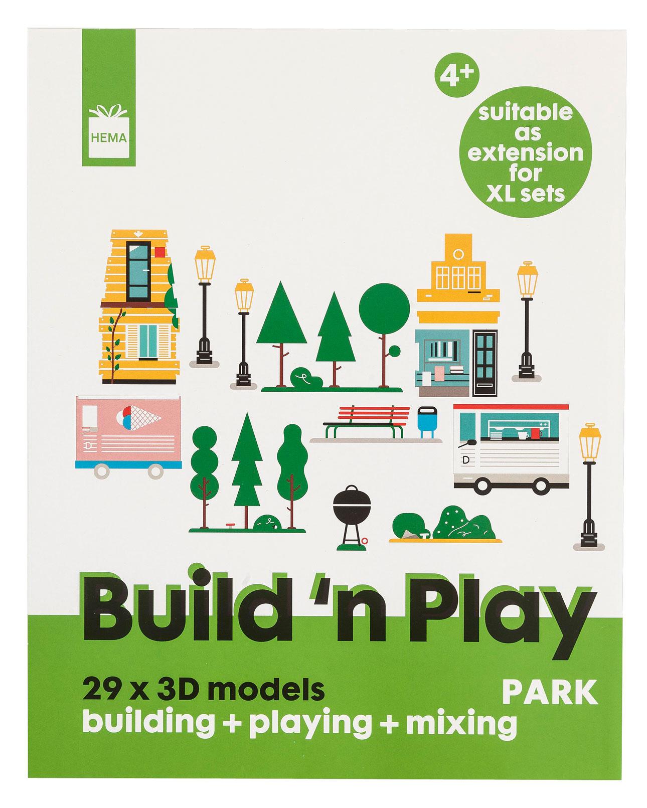 hema papieren speelgoed papieren stad groen