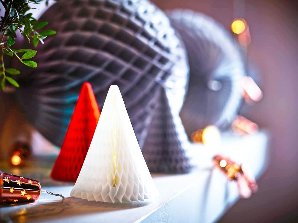 Ikea kerst 2015 honeycomb bomen