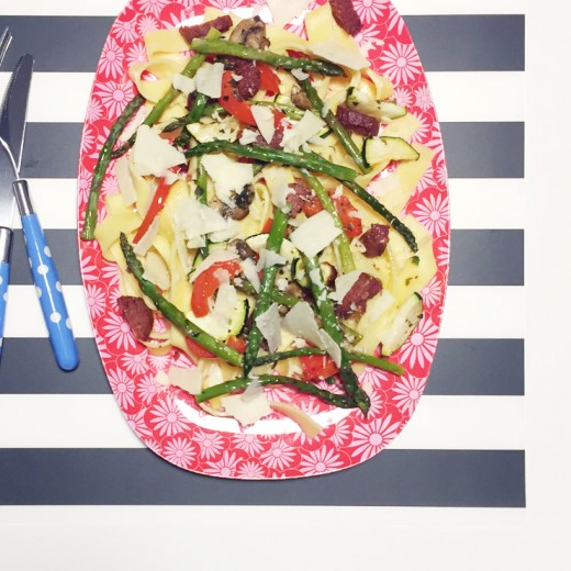 Mamalifestyle november 2015 Pasta met gegrilde groenten