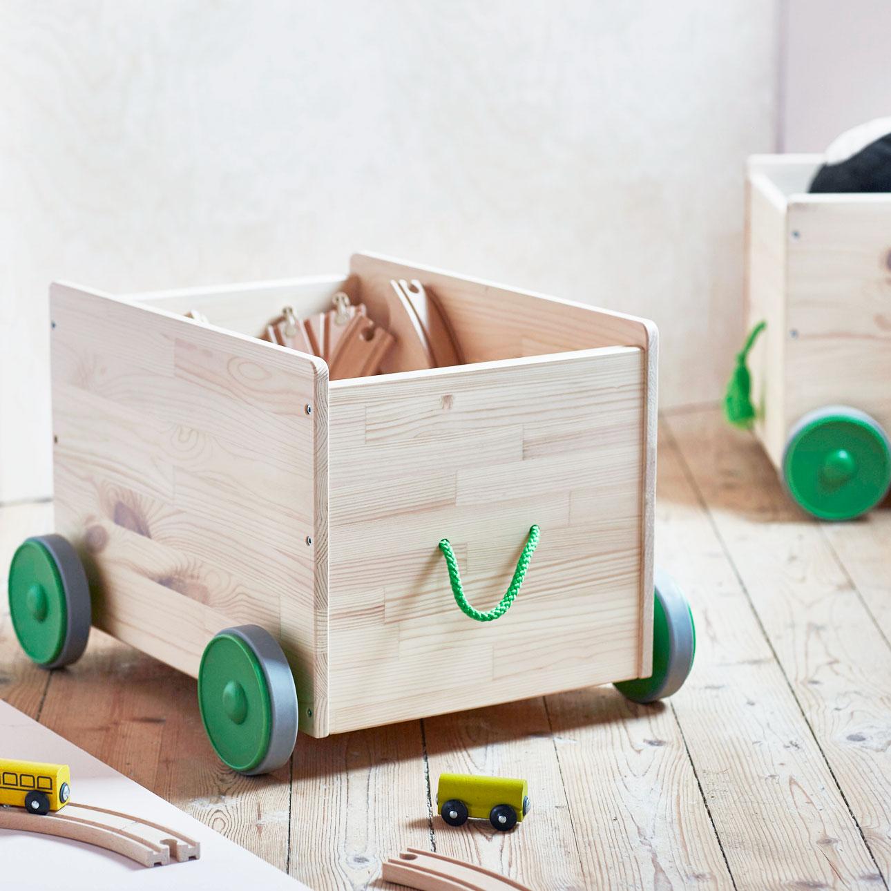 Ikea kinderland houten kist