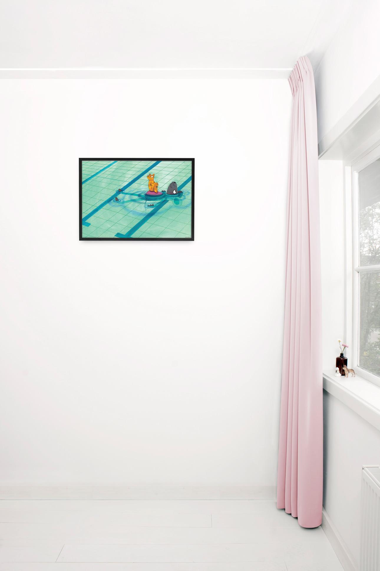 Kek Amsterdam poster fiep westendorp zwembad