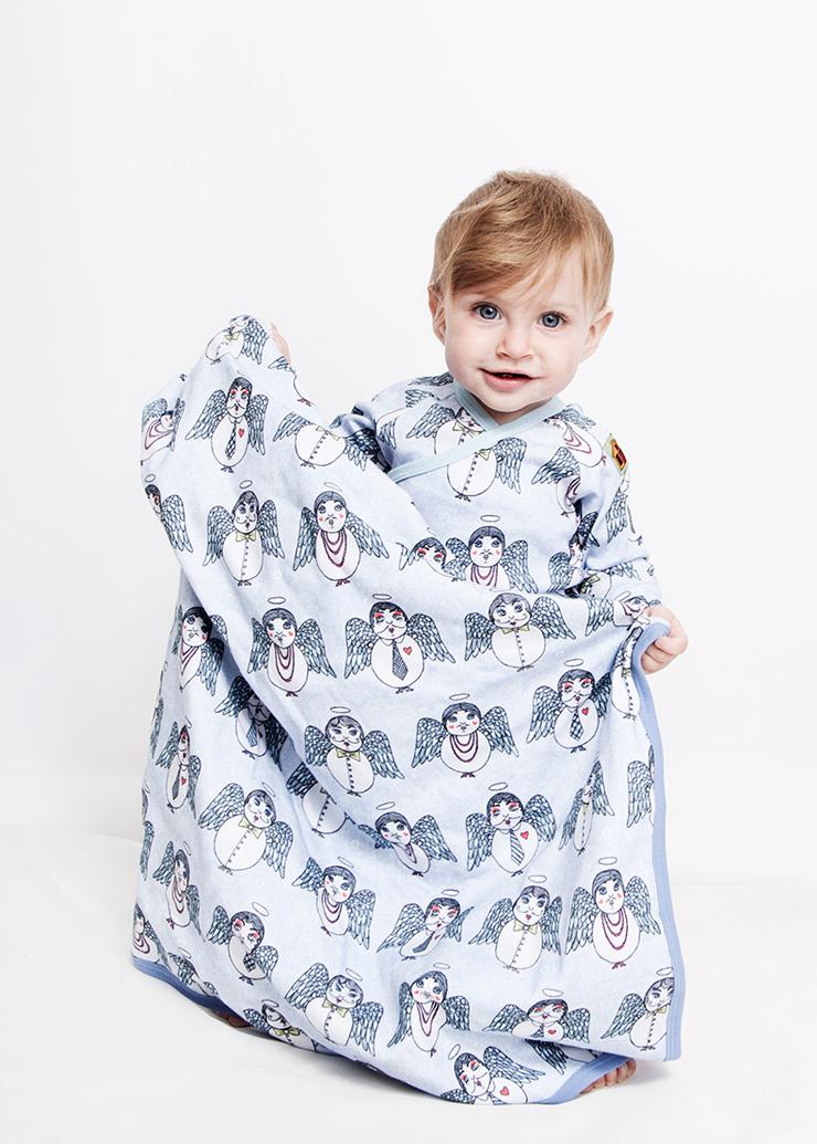 Modeerska Huset ss16 Angel Delights Baby Blanket