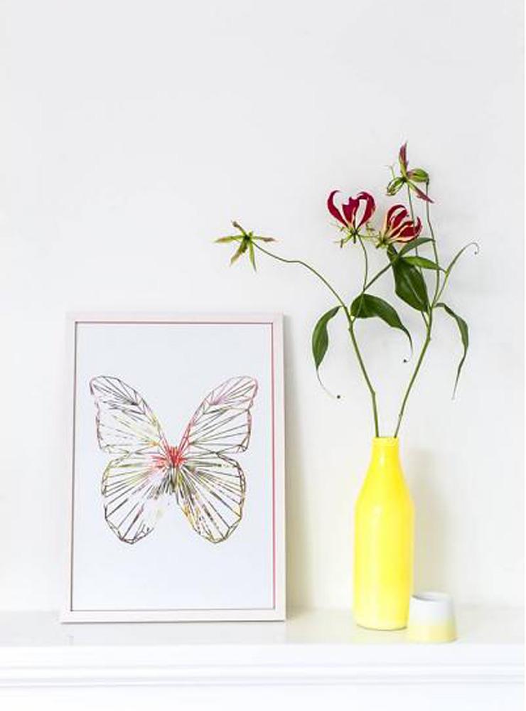 Moederdag vlinderkindjes poster