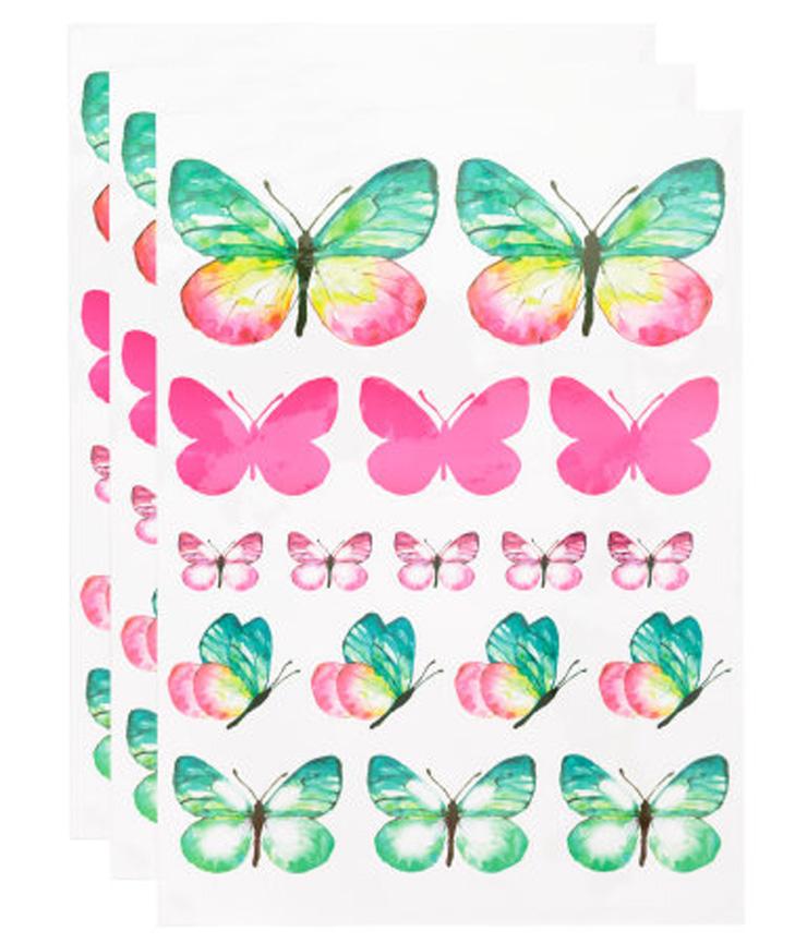 moederdag vlinder muurstickers hm