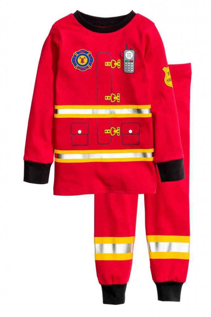 verlanglijstje javian hm brandweer pyjama