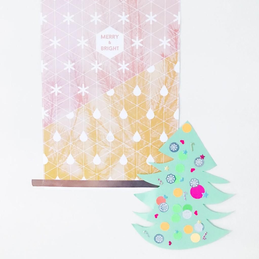 kerstboom stickers