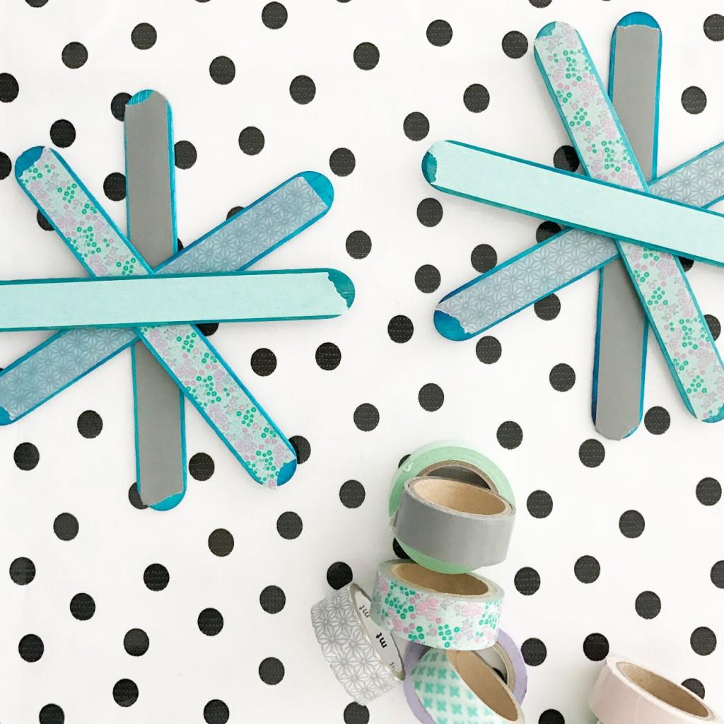 kerststerren maken masking tape