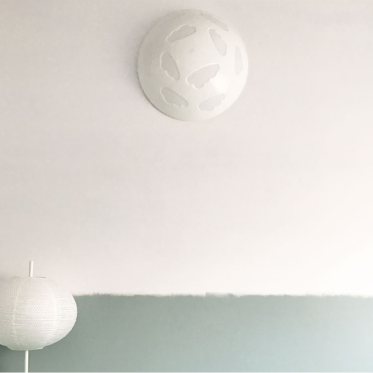 babykamer hoerababytwee wolkenlamp wandlamp
