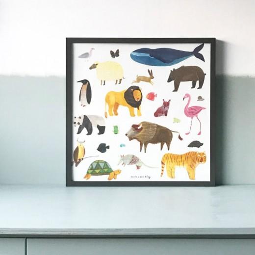 poster kinderkamer marta abad blay dieren animals