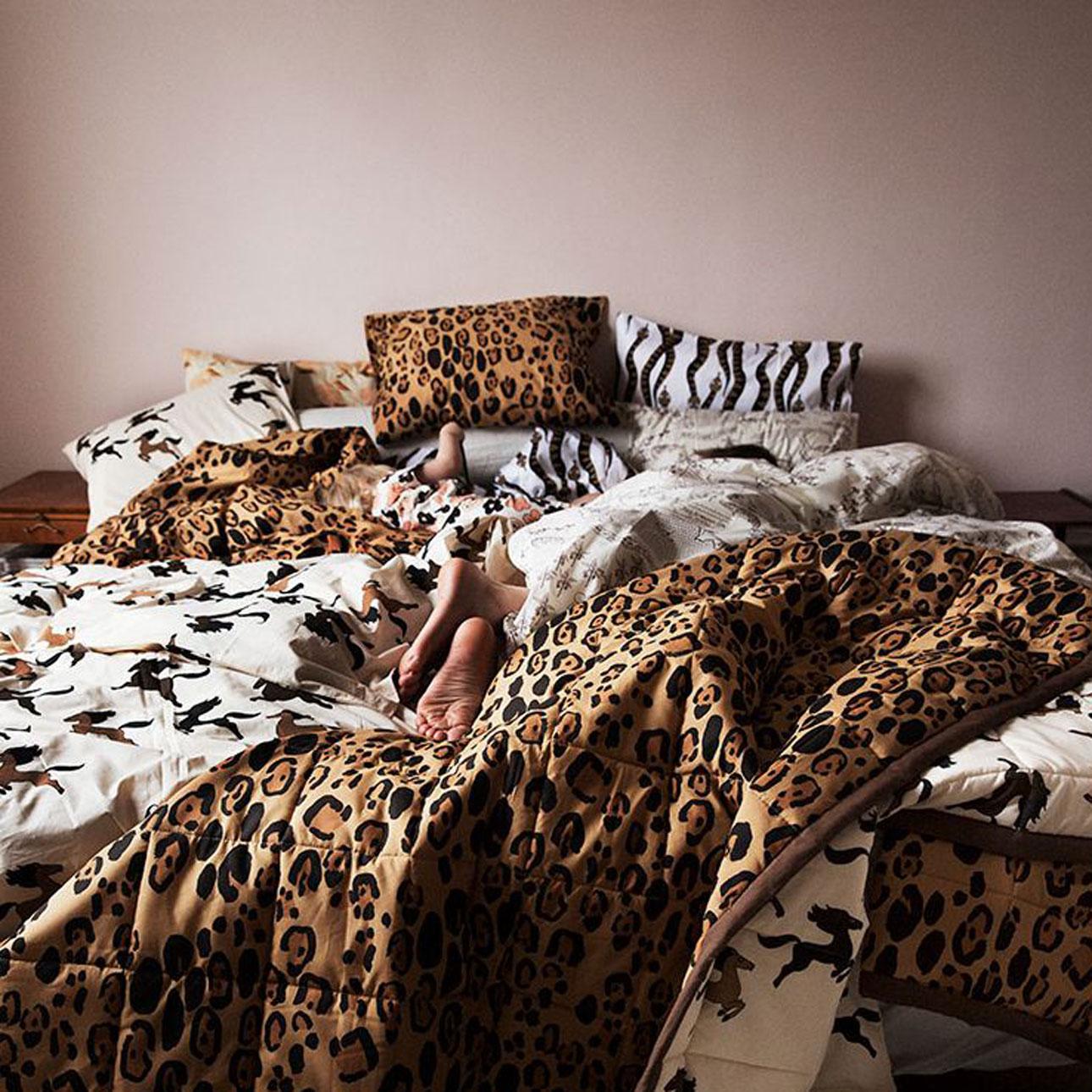 mini rodini home beddengoed luipaard