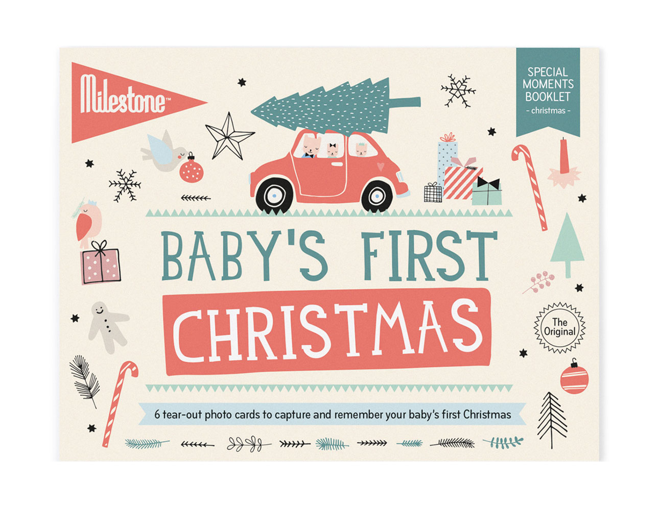 milestone cards baby's eerste kerst baby's first christmas