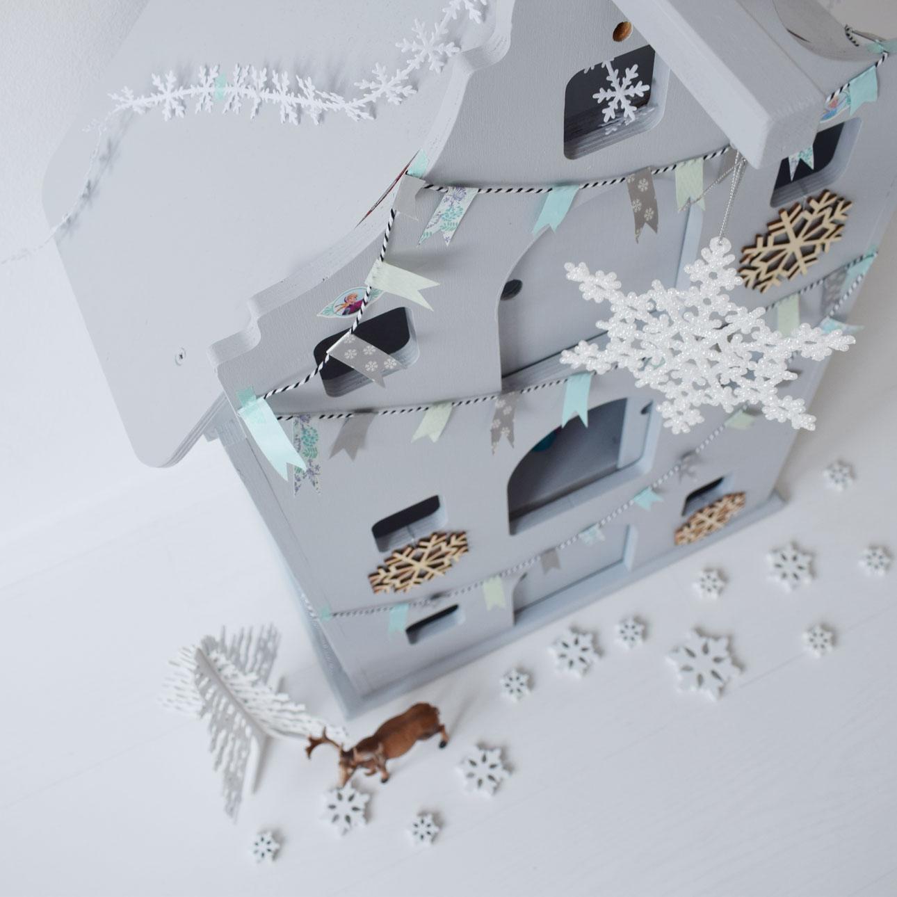 houten pakhuis frozen ijskasteel ijskristallen