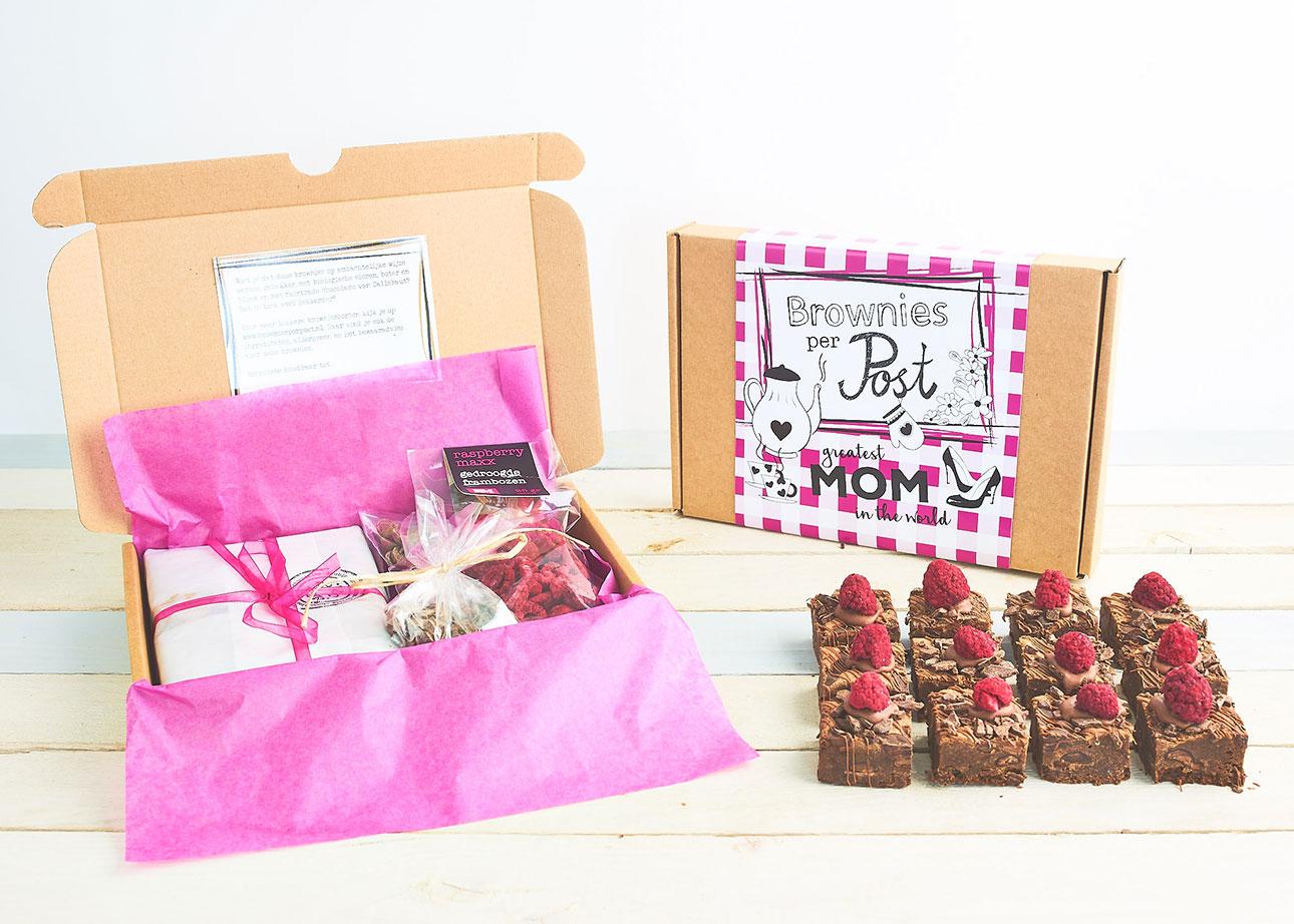 brownies per post moederdagbox brownies