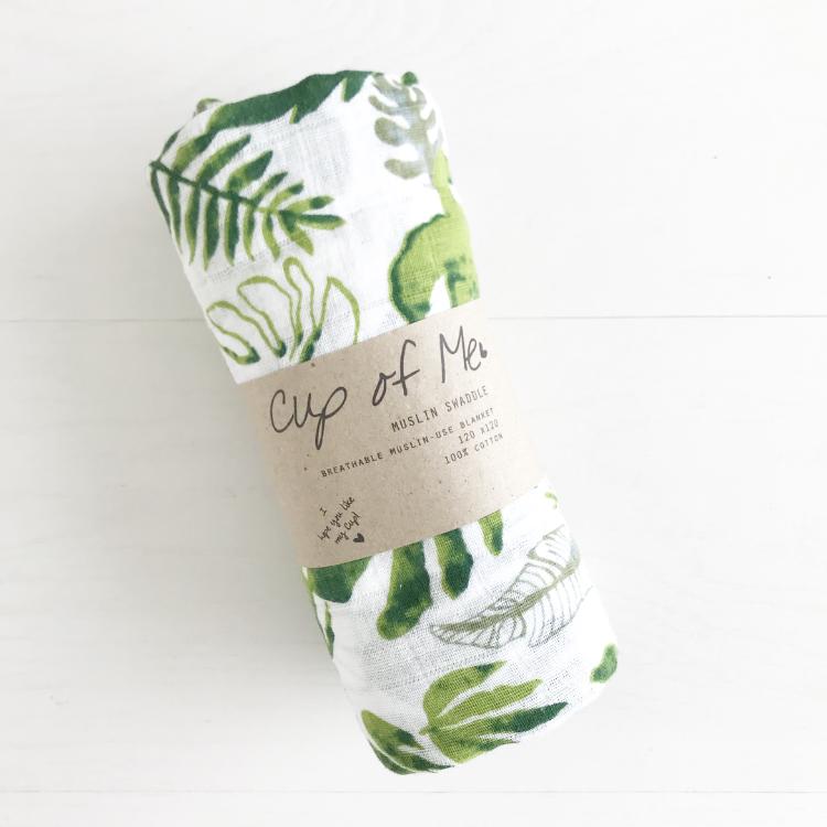 Senne jarig botanic hydrofiel doek cup of me