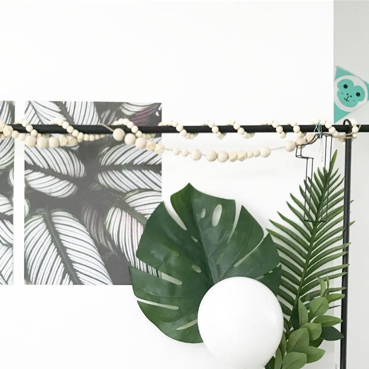 Senne jarig decoratie tafelklem bladeren - jungle feest