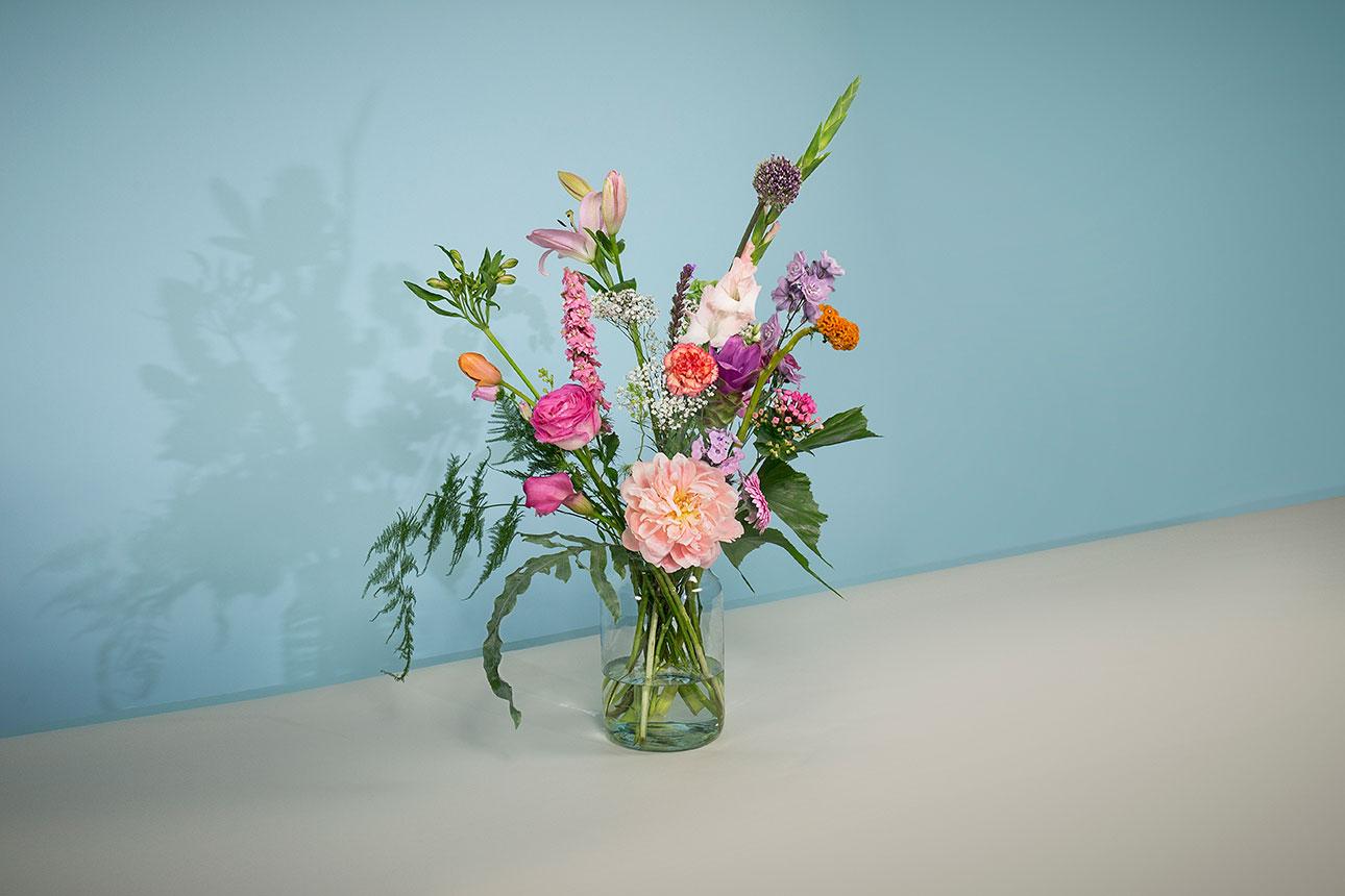 bloomon moederdagbos bloemen blauw