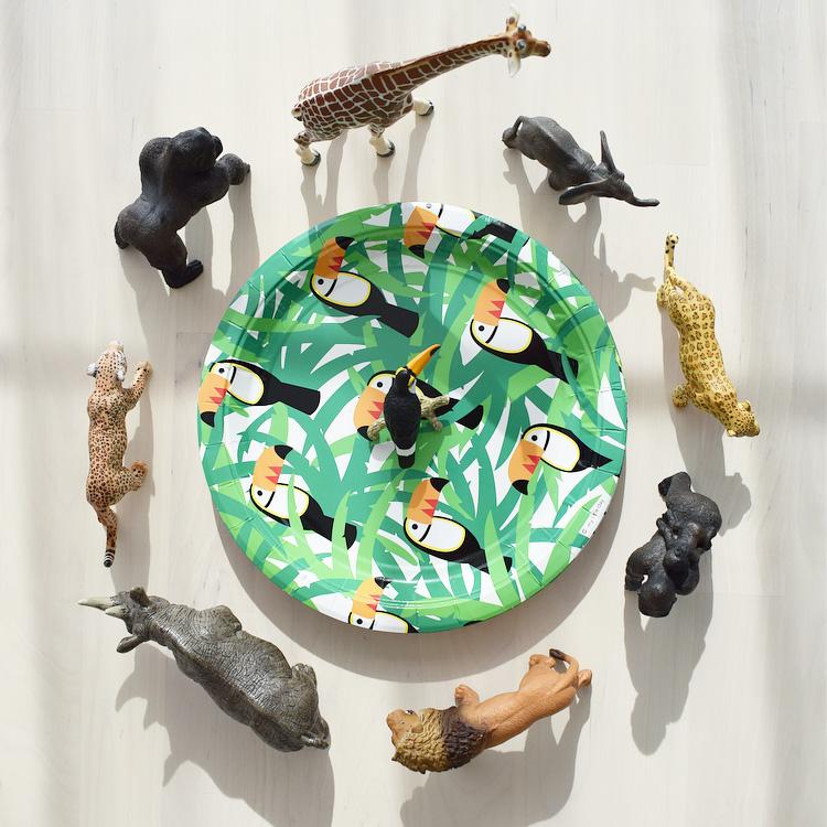 senne jungle party toekan bordjes schleich dieren