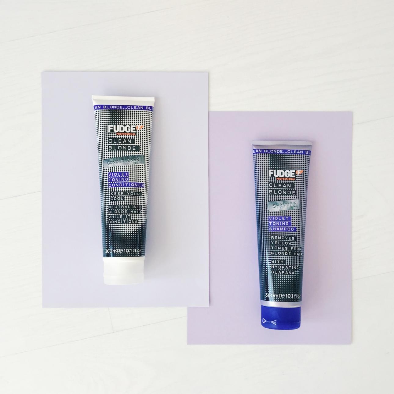fudge clean blonde violet toning shampoo conditioner - fudge zilvershampoo