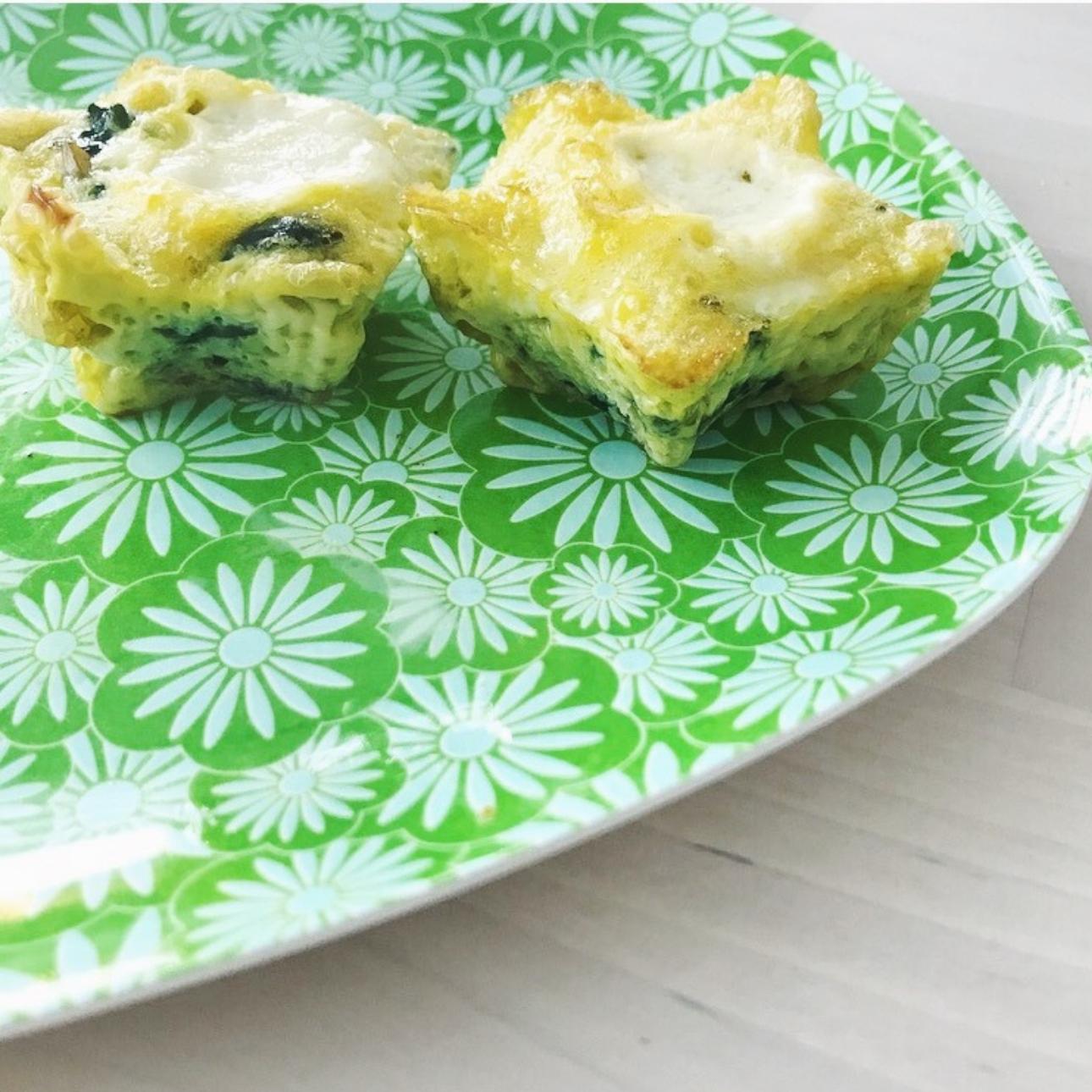 ei muffins mozzarella spinazie