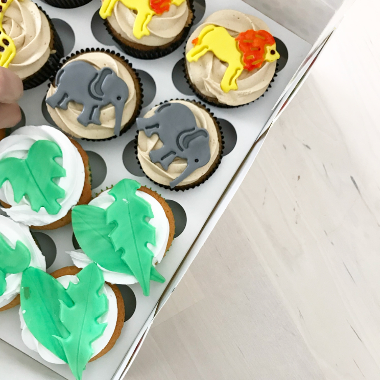 one wild year jungle party cupcakes