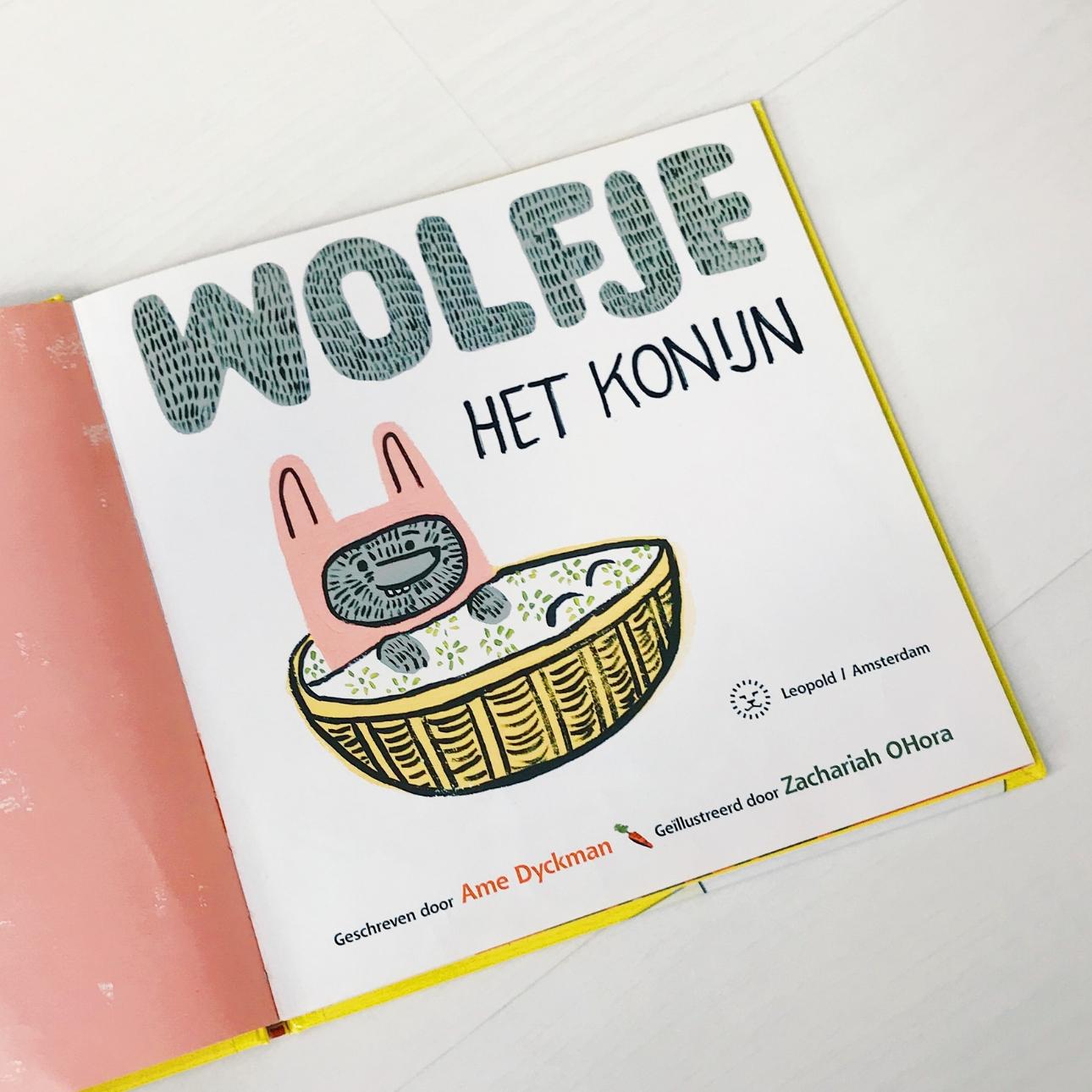wolfje het konijn prentenboek