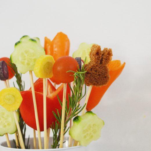 snoepgroente boeket groente bloemen