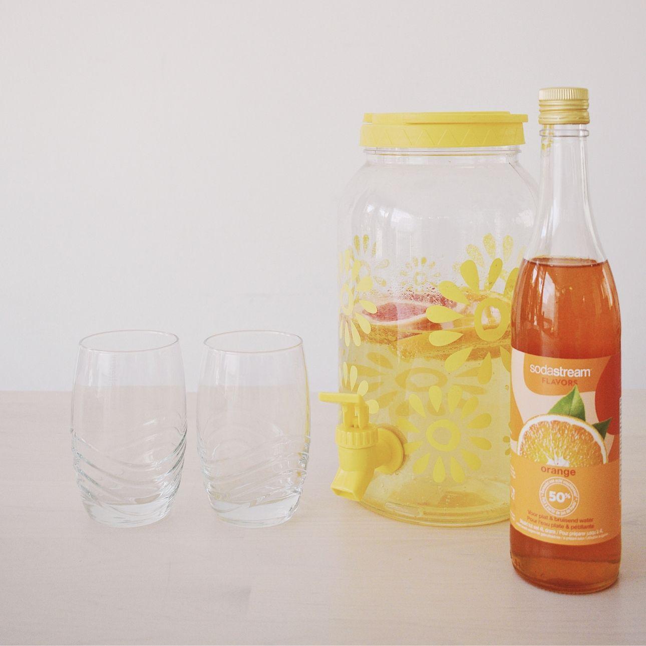 Sodastream oranje limonade sinaasappel
