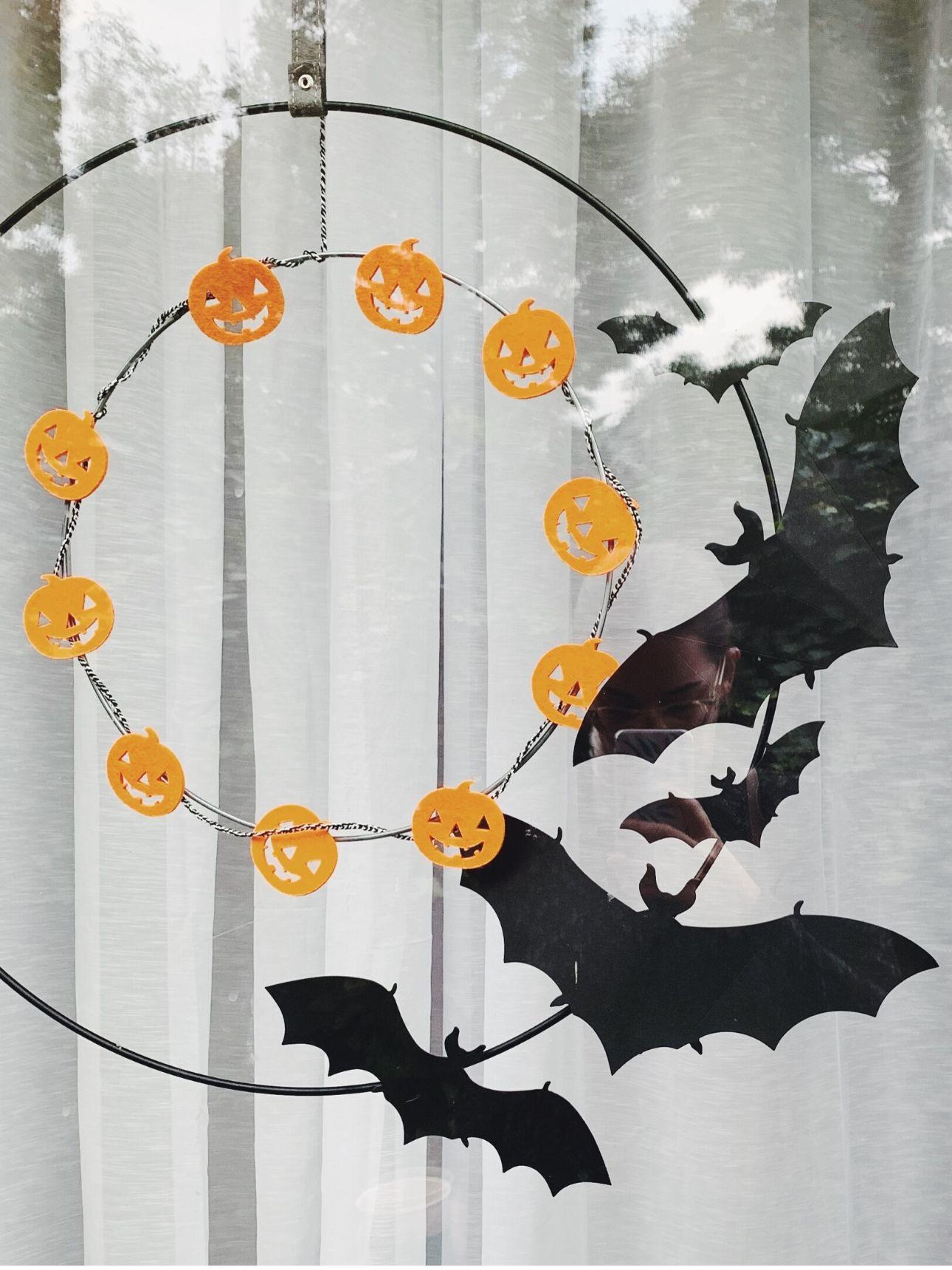 Halloween kransen voordeur