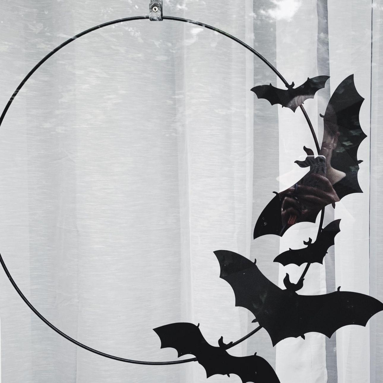 halloween krans vleermuizen