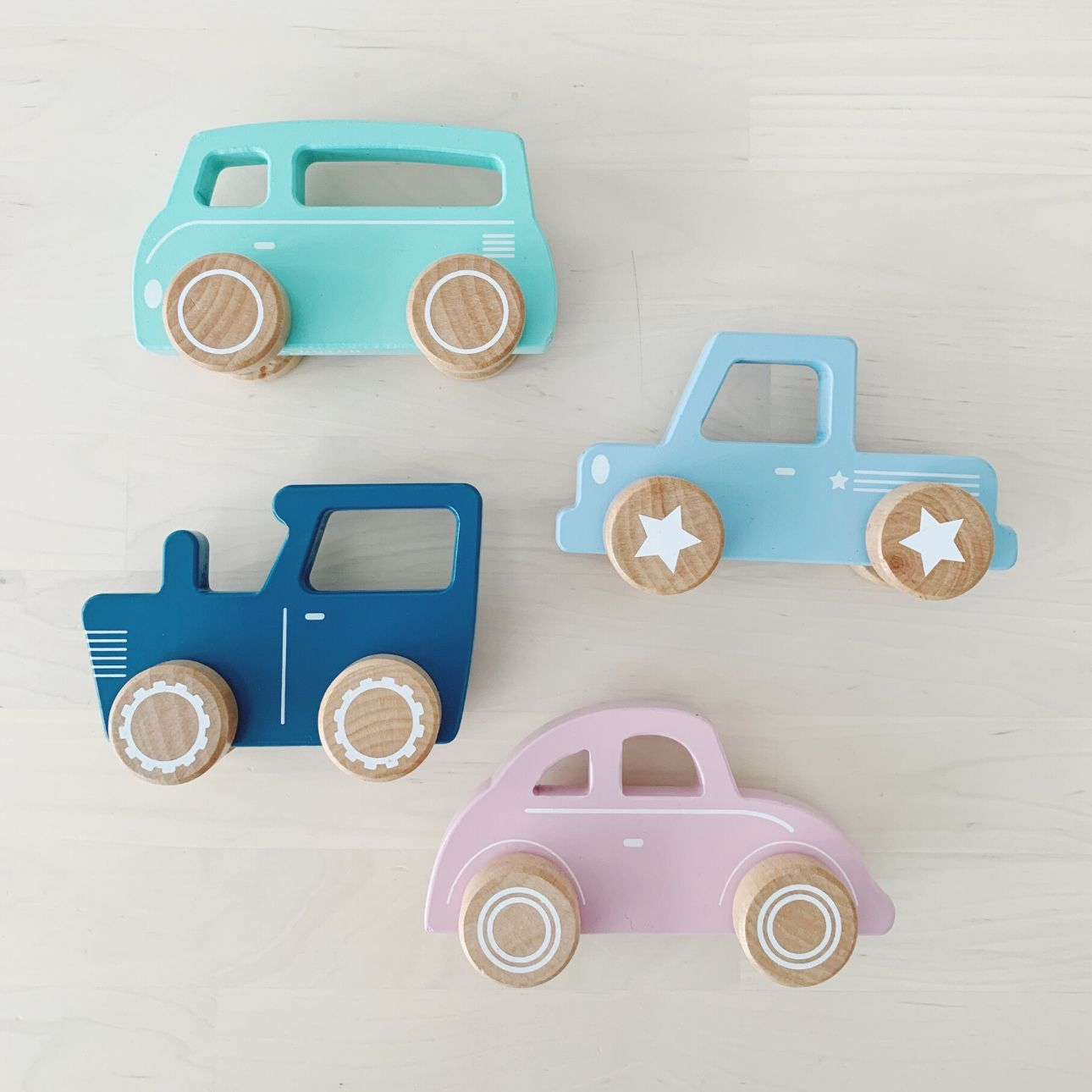 Little Dutch houten speelgoed auto's